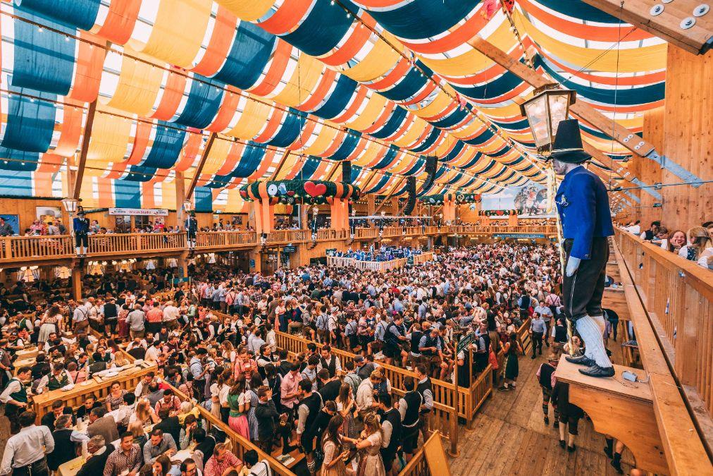 Schützenfestzelt the tent at the Munich Oktoberfest