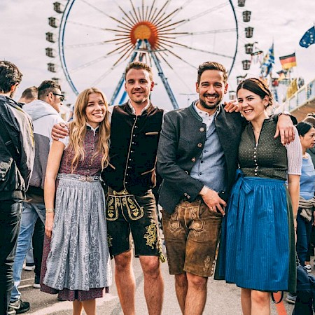 A visit to the Wiesn is best in dirndls and lederhosen