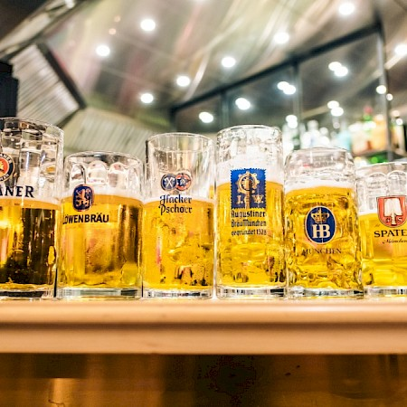The six Munich Oktoberfest Beers
