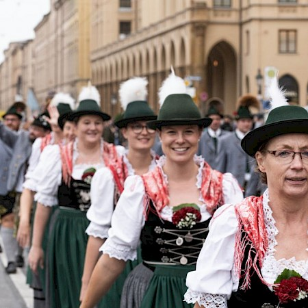 The traditional costume parade 2019